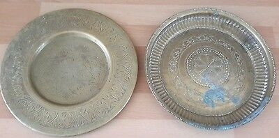 Two Brass Plates/Dishes