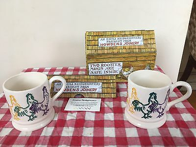 EMMA  BRIDGEWATER. 2 BOXED ROOSTER MUGS. Howdens Joinery.