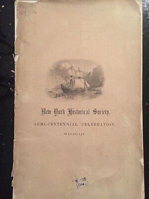 Antique book New York Historical Society, Oration delivered before Society 1854