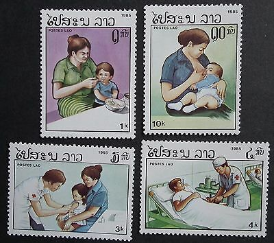 Laos (1985) Health / Red Cross / Nursing / Medicine / Medical - Mint (MNH)