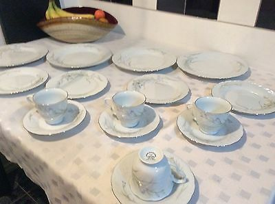 Vintage Source Of Fine China Cac Ceramic Shirley Dinner Service Set-