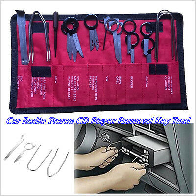 20 Pcs DIY Stainless Steel Car Interior Radio Stereo Removal & Installation Tool