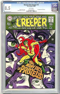 Dc Beware The Creeper #2 (7-8/68) Cgc 8.5 White Pages Steve Ditko Cover & Art