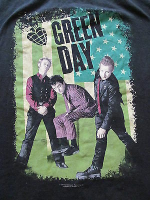 RARE version Original 2005 GREEN DAY AMERICAN IDIOT Black T-shirt Men's M Medium