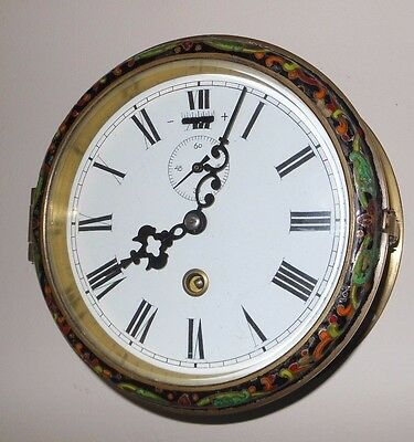 Ships Clock with Cloisonne  Decoration