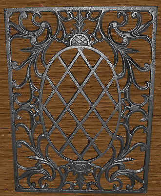Large Victorian? Cast Wrought Iron Fence Gate Panel Grate Grill Pineapple Design