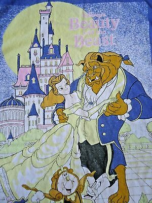 Disney Beauty and the Beast VTG Towel 1991