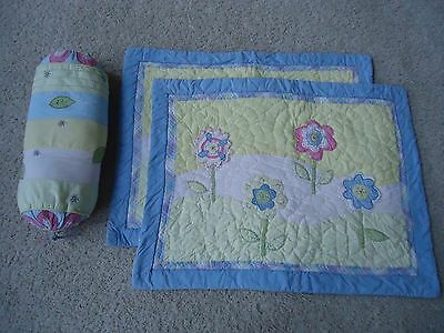 Pottery Barn Kids Pillow Shams (2) Blue Flowers