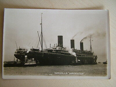 "Very Old Postcard - CUNARD, S.S. ""IMPERATOR"".  Unused. Standard size."