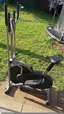 XS Sports Pro 2-in1 Elliptical Cross Trainer Exercise Bike-Fitness Cardio Weight