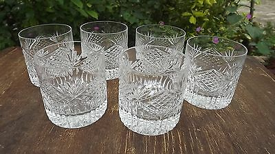 Tyrone Crystal set of 6 whiskey Glasses Fine cut & Fully Stamped