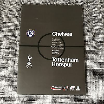 Carling Cup Final Programme 2008 Chelsea v Tottenham And Pin Spurs Badge