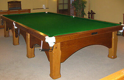12ft E.J Riley Solid Oak Viceroy Snooker Table free UK mainland delivery