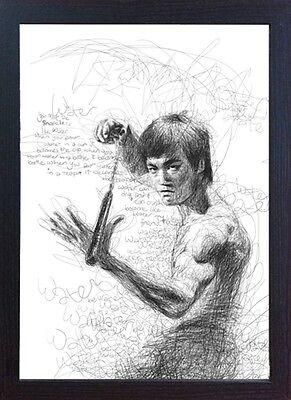 Bruce Lee Memorabilia Art home decor FRAMED