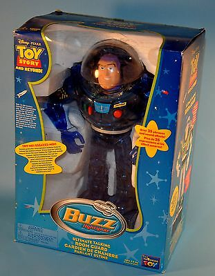 2002 Toy Story And Beyond Buzz Lightyear Ultimate Talking Room Guard Blue Chrome