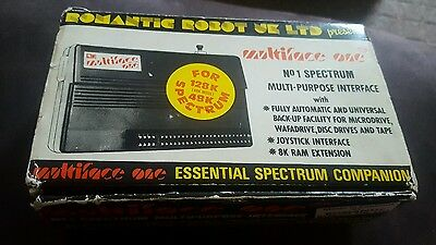 Romantic Robot Multiface One 1 with Joystick  Port Sinclair ZX Spectrum with box