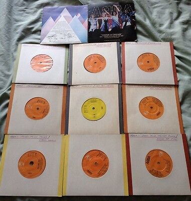 """Lot Of 10 Classic Abba  7"""" Vinyl Singles UK - Mostly First Pressings"""