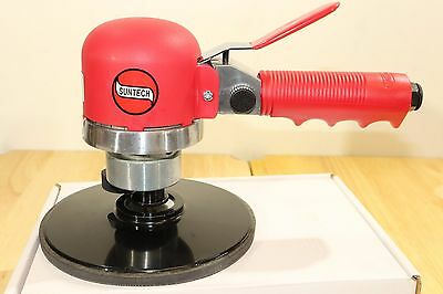 "Suntech Pneumatic Air 6"" DA Dual Action Quiet Hand Sander 10,000 RPM 3/16"" Orbit"