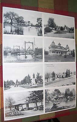 Sheet of Eight Berlin/Kitchener Ontario Canada Post Cards Victoria Park 100th