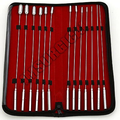 Bakes Rosebud Urethral Sounds Dilator Set of 13 Pieces, FREE Pouch