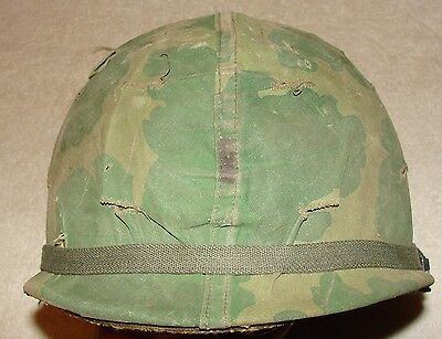 Vietnam Era US M1 Lt.'s Helmet with Liner and Camouflage Cover - Complete