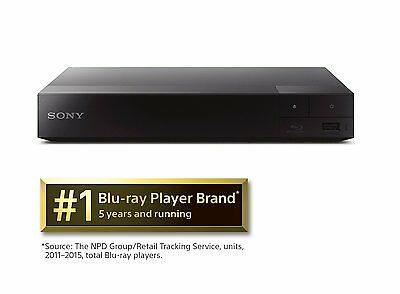 Sony BDPS3700 Streaming Blu-Ray Disc Player with Wi-Fi (2016 Model)