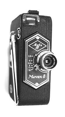 AGFA MOVEX 8 8mm CINE CAMERA AND CASE c1940 NEAR PERFECT