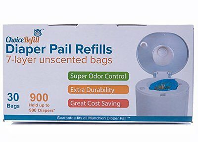Diaper Pail Refill Bags 900 Counts Fully Compatible with Arm & Hammer Disposal