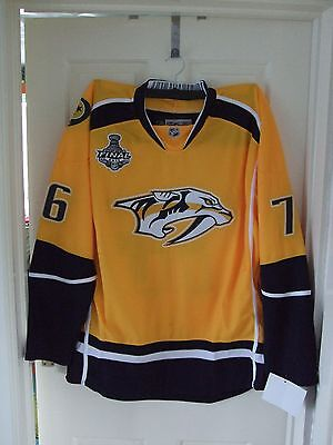 BNWT Nashville Predators   #76 PK Subban   Yellow   'Home'    Ice Hockey Jersey