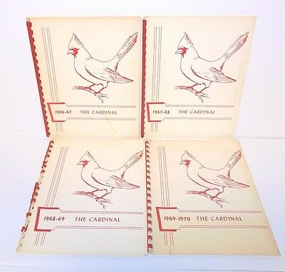 """Southeast Elementary School, Decatur, Indiana """"The Cardinal"""" Spiral Yearbook 60s"""