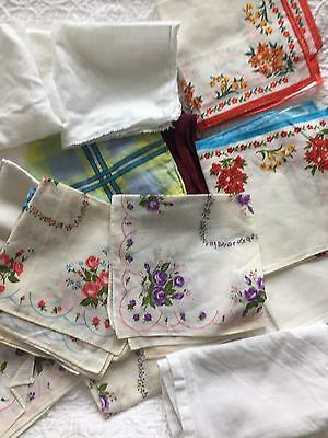 Vintage Ladies Handkerchiefs (12)