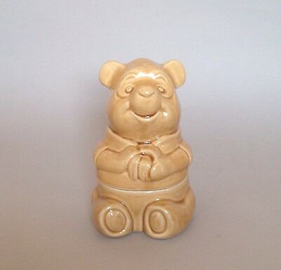 Winnie The Pooh Honey Pot Ceramic Cookie Storage Jar Walt Disney Vintage Retro