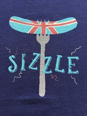 "Boys Mini Boden Tee T Shirt 11 12 EUC Sizzle Sausage - ""Closet Clear out"""