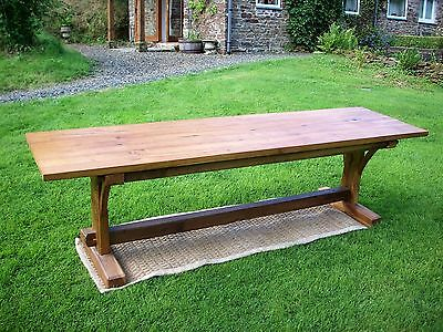 9' long Oak refectory Dining / Kitchen Table - rustic solid natural light Oak