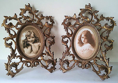 2 Victorian Photo Frames Or Mirrors In Rococo Style