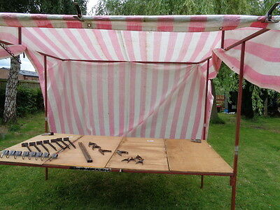 Market stall 8 ft x 4 ft with  boards, cover, hooks and clamps included