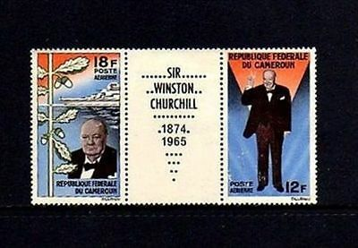 CAMEROUN SC C 56a, 1965 Churchill issue with label. MNH.
