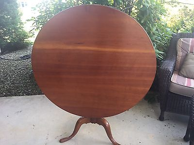 "Antique 40""+ Tilt Top Tea Table C.1780-1810 Large"