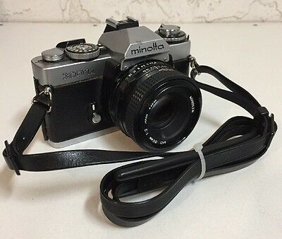 Vintage Minolta XD-11 35mm SLR Film Camera with 50mm 1:2 Lens