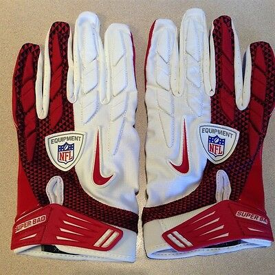 Nike Superbad NFL Football Gloves 4XL XXXL Full Protection Red White NEW