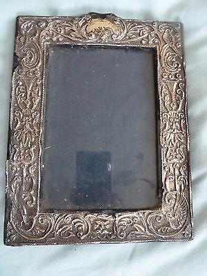 Small Late Victorian Silver Photo Picture Frame - Birmingham    f
