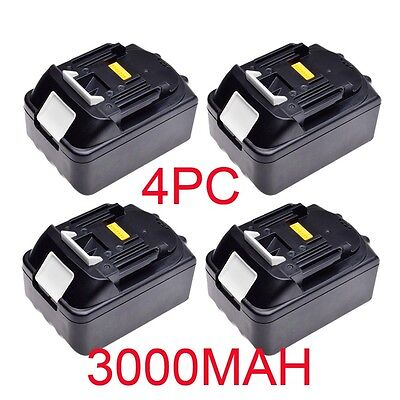 4X 18 V 3.0Ah Batterie Lithium-ion Makita BL1830 LXT Heavy Duty Remplacement FR