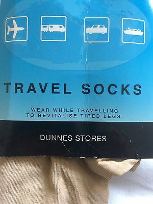 Flight socks for tired legs, shoe size 3-8 ladies