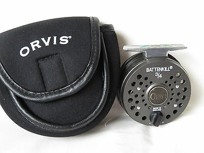 orvis battenkill fly Fishing Reel  3/4 Excellent Condition With orvis pouch