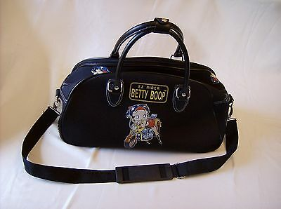 Betty Boop EZ Rider Motorcycle Over-Night Duffle Bage New