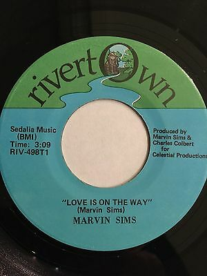 Marvin Sims, Love Is On The Way, Rare Modern Soul 45