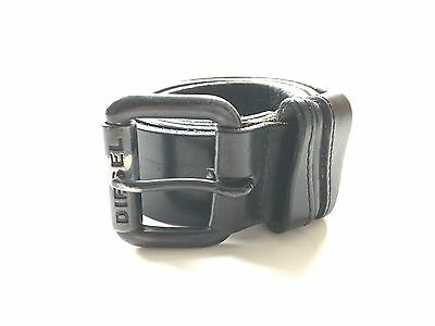 Men's Diesel Leather Belt Black 90cm