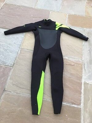 2017 O'Neill SuperFreak 4/3mm Chest Zip Wetsuit BLACK / DAY GLO  (m/s) Used Once