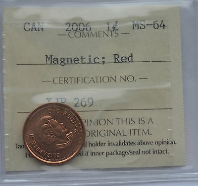 "2006 Canada Magnetic Red Penny - MS-64, No ""Logo"" and No ""P"""