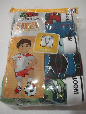 Fruit of the Loom Toddler Boys 5 Pack Boxer Briefs Size 4T-5T NEW Prints